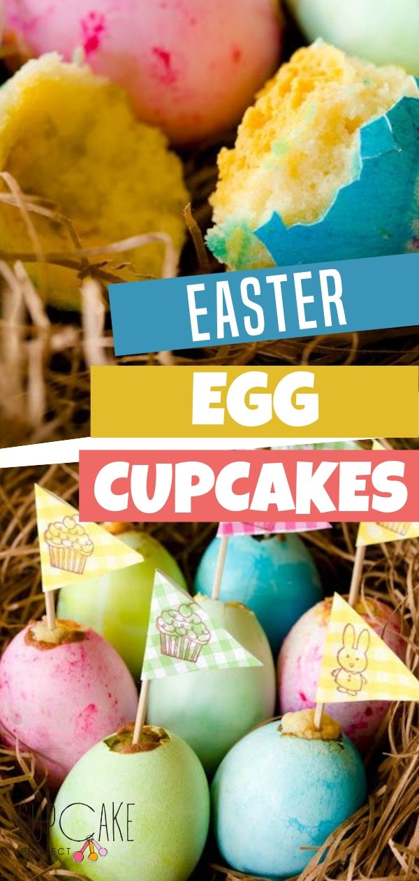 A fun Easter recipe idea, these Easter Egg Cupcakes with Yolk Centers are a sure winner on your Easter table. They are the perfect sweet treat for family parties. Don\'t forget to save this recipe!
