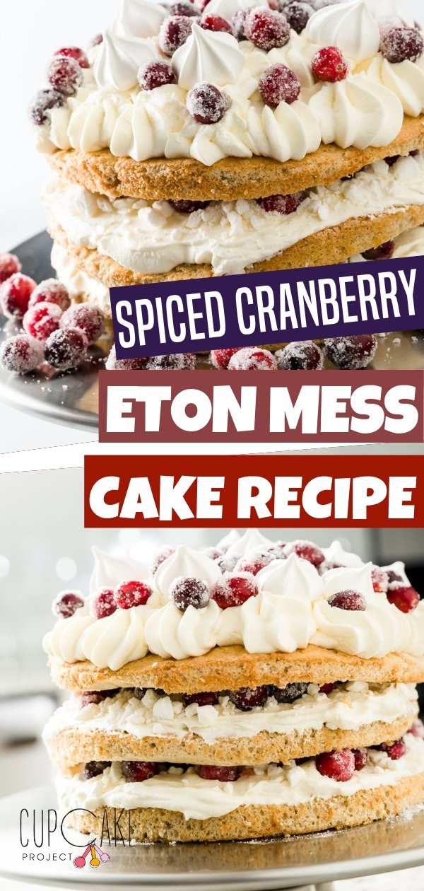 Create a fun dessert with your kids with this Eton Mess Cake! It is a layer cake made with fresh fruit and whipped cream with crushed meringues between the layers. Try baking this awesome recipe!