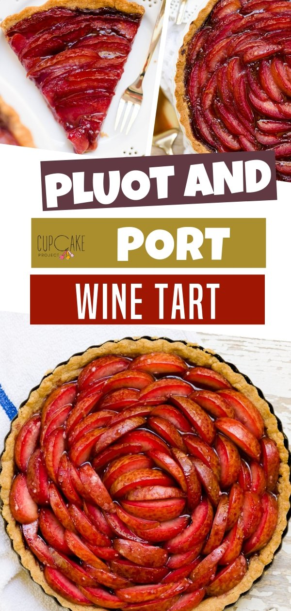 Pluot and Port Wine Tart with Brown Sugar Crust