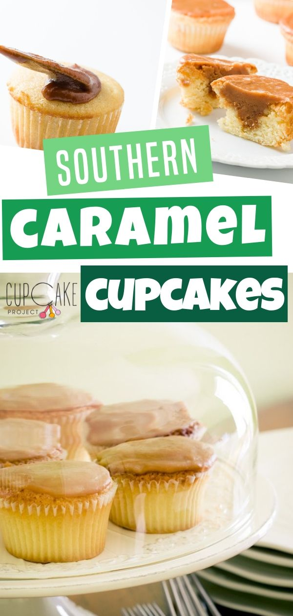 This Southern Caramel Cupcake recipe is caramel filled cupcakes! Topped with the most incredible caramel icing. Crunchy on the surface and smooth and soft on the inside. If you want something different fill them with extra caramel for a really special treat!