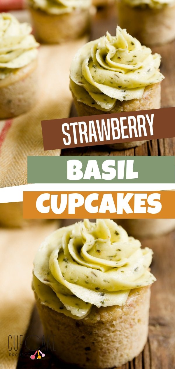 The classic strawberry and basil pairing made into cupcakes! This dessert recipe is made with food processed fresh strawberries and basil sugar. The basil buttercream complements the strawberry and brings out its flavor even more!