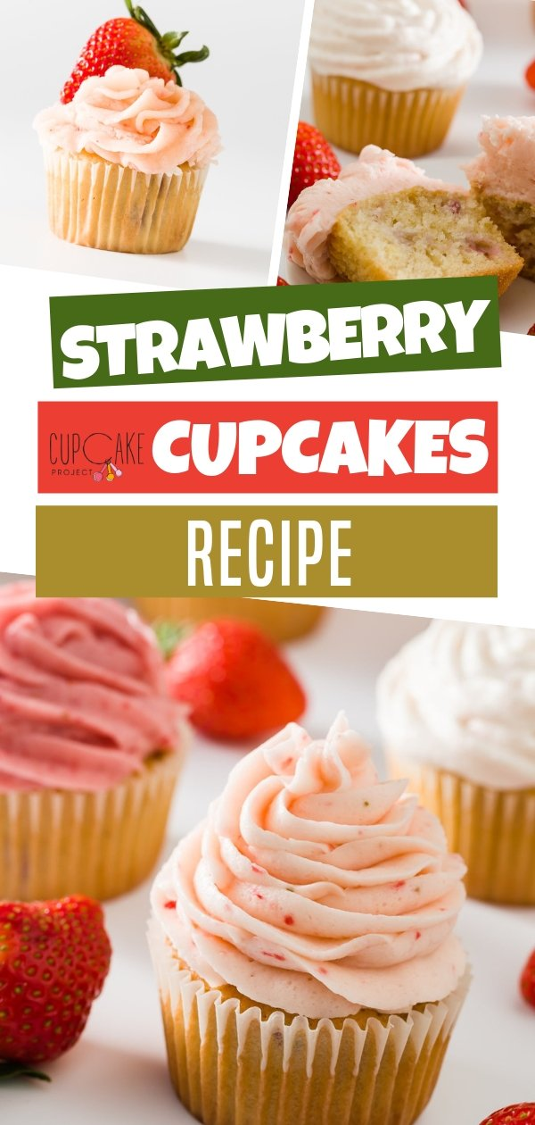 Moist and flavorful cupcakes loaded with fresh strawberries! It\'s easy to make and made for complete beginners! A perfect surprise for special someone on Valentine\'s day, birthday or any occasion!