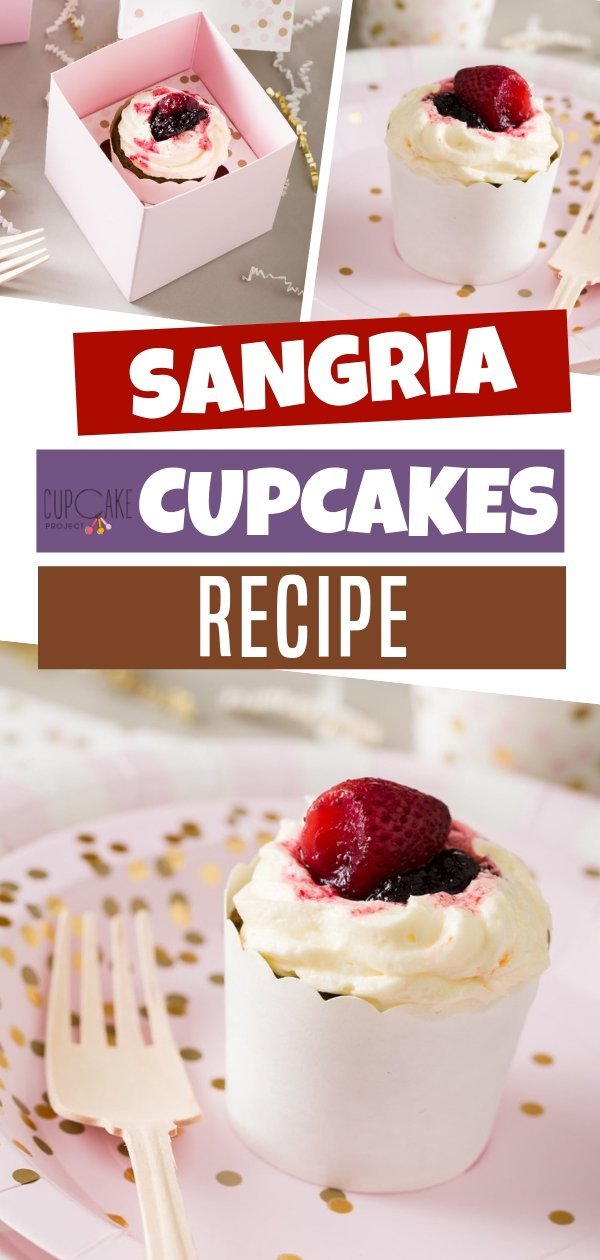 Sangria cupcakes recipe is a great combination mix for a lovely dessert. The cupcakes burst with complex flavors of sangria and were a tremendous hit with tasters across the country. The perfect taste to try suited for any occasion. Save this pin!