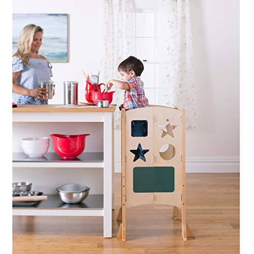 Guidecraft Classic Kitchen Helper Stool