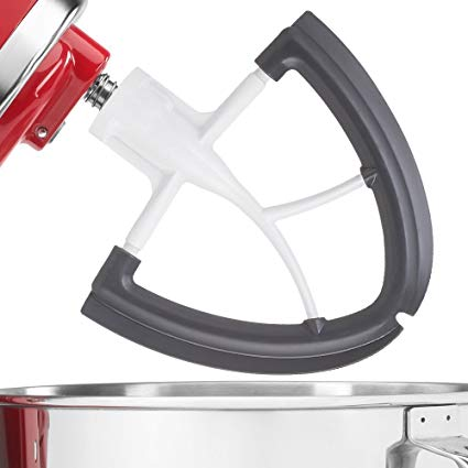 Flex Edge Beater for Kitchen-Aid 4.5-5 Quart Tilt-Head Stand Mixer-Flat Beater Blade with Flex Edge Bowl Scraper