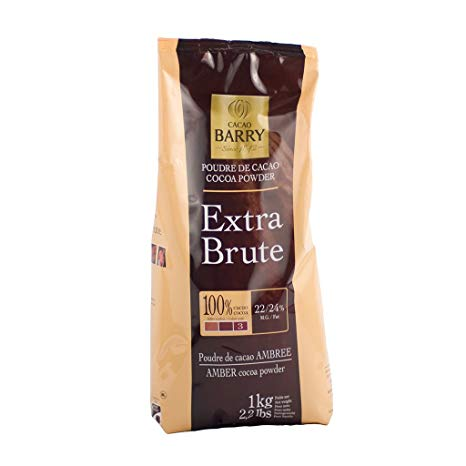 Cacao Barry Cocoa Powder 100% Cocoa Extra Brute, 2.2 lb