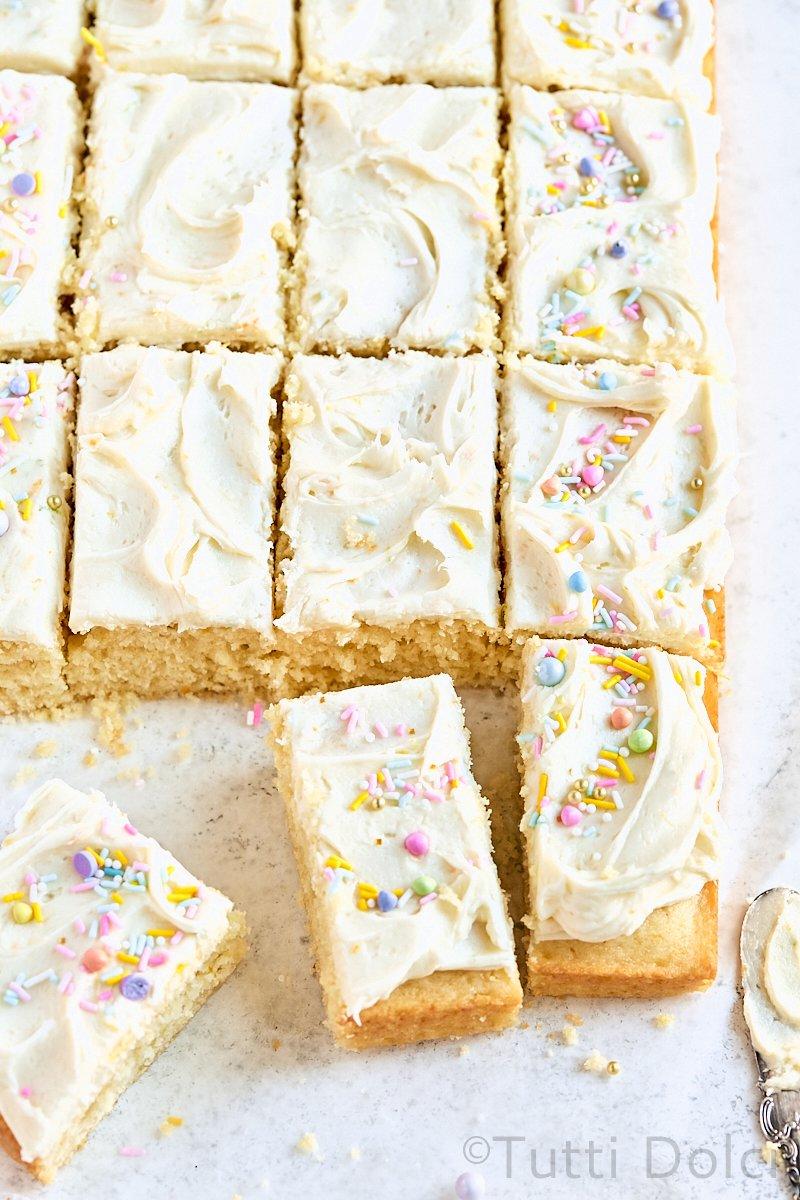 Citrus Vanilla Sheet Cake