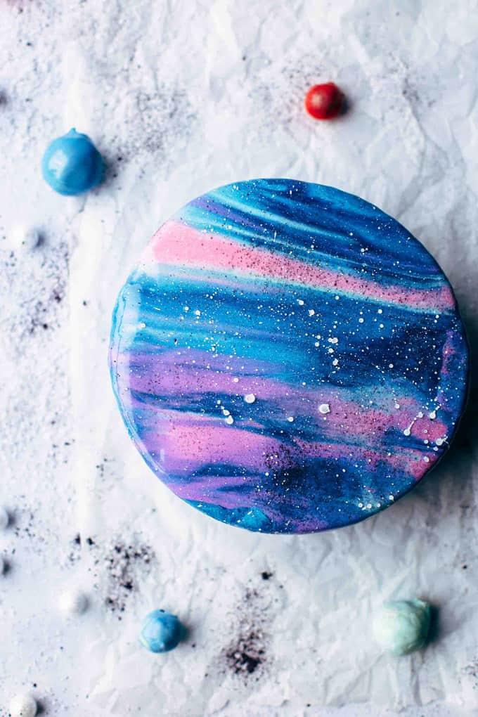 Galaxy Baby Shower Cake