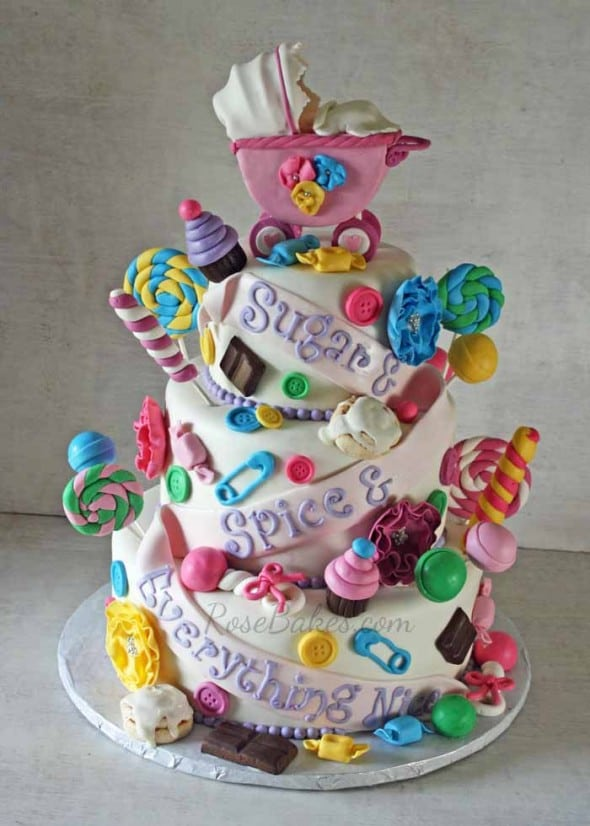 Sugar and Spice and Everything Nice Baby Shower Cake