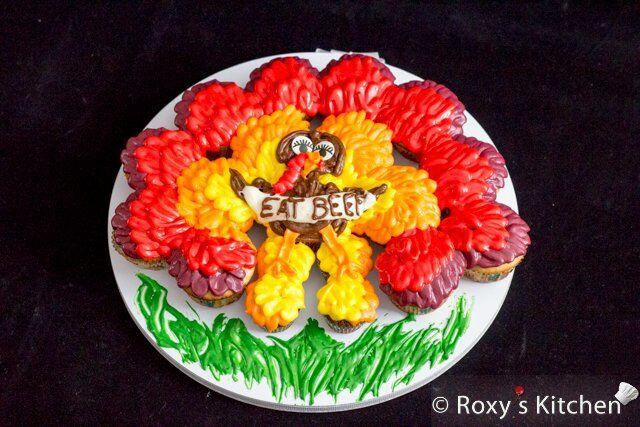 Turkey Cupcake Cake
