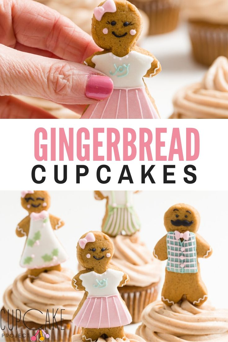 Gingerbread cupcakes are perfect for the holidays. The gingerbread flavor carries into the cream cheese frosting as well.