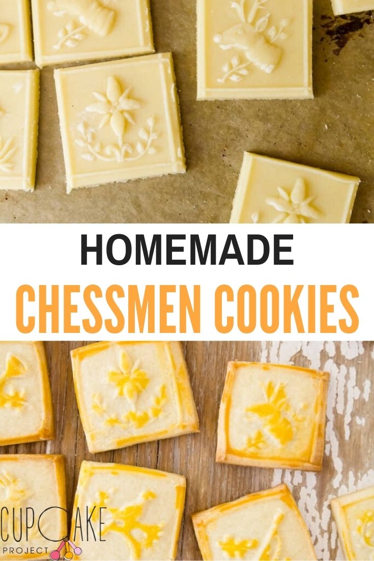 These homemade chessmen cookies are going to be your new favorite! Almost matching storebought, they will make perfect gifts or snacks! #chessment #cookies #homemade