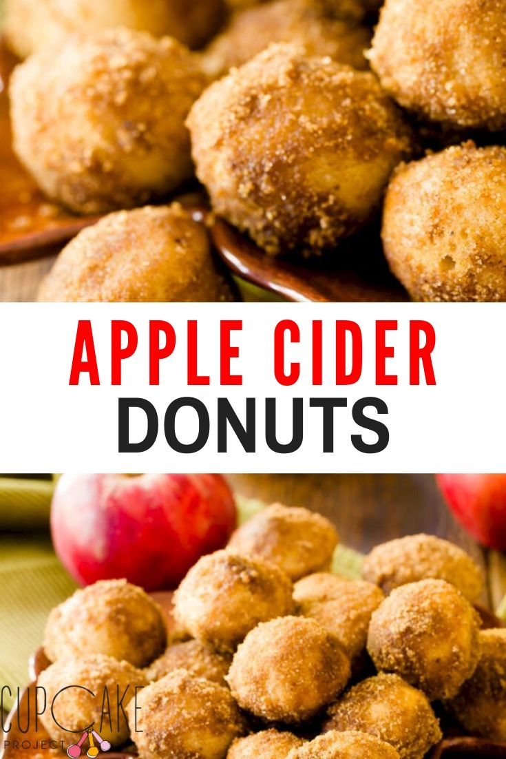These apple cider donuts have the same consistency as fried donuts and are jam-packed with fall\'s flavors - just like the ones sold at apple orchards alongside caramel apples. They are baked rather than fried and can be made as standard donuts, donut holes, or apple cider donut muffins! #apple #cider #donuts