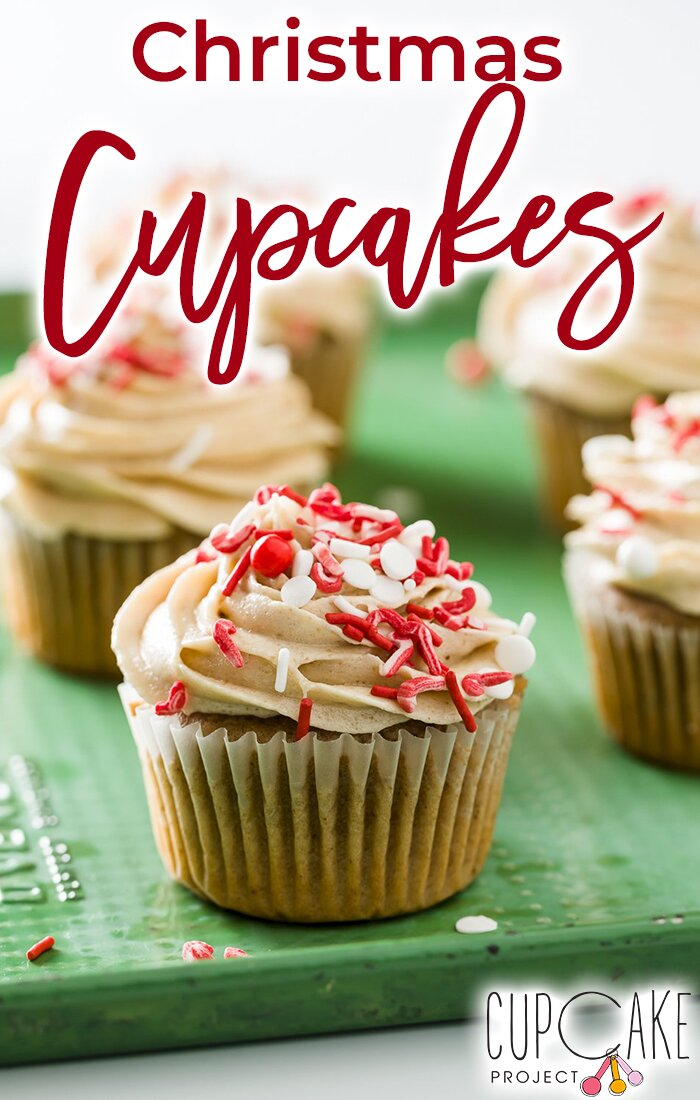 The Christmas cupcakes are made with mulled wine and have a chestnut butter frosting. They taste like little bites of Christmas! #christmas #cupcakes #dessert