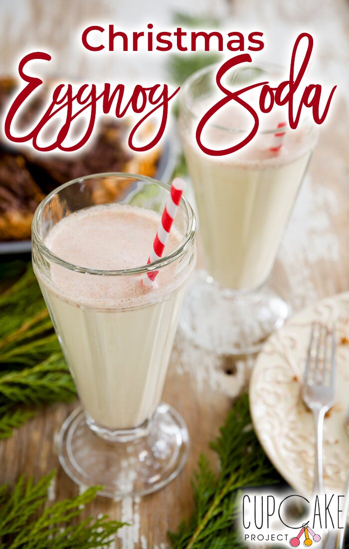 This kid-friendly eggnog soda that I created for Parade Magazine reminds me of an egg cream. It\'s rich, fizzy, decadent, and just the thing to keep the kiddos from feeling left out while you sip on the spiked eggnog. #eggnog #soda #christmas #kids #winter #drinks