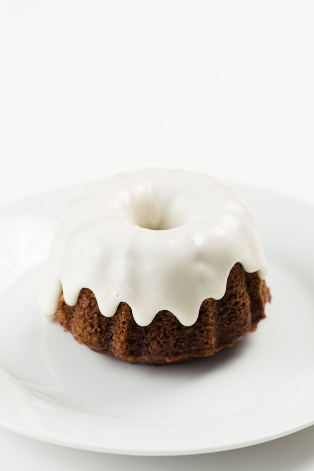Glazed mini Bundt cake