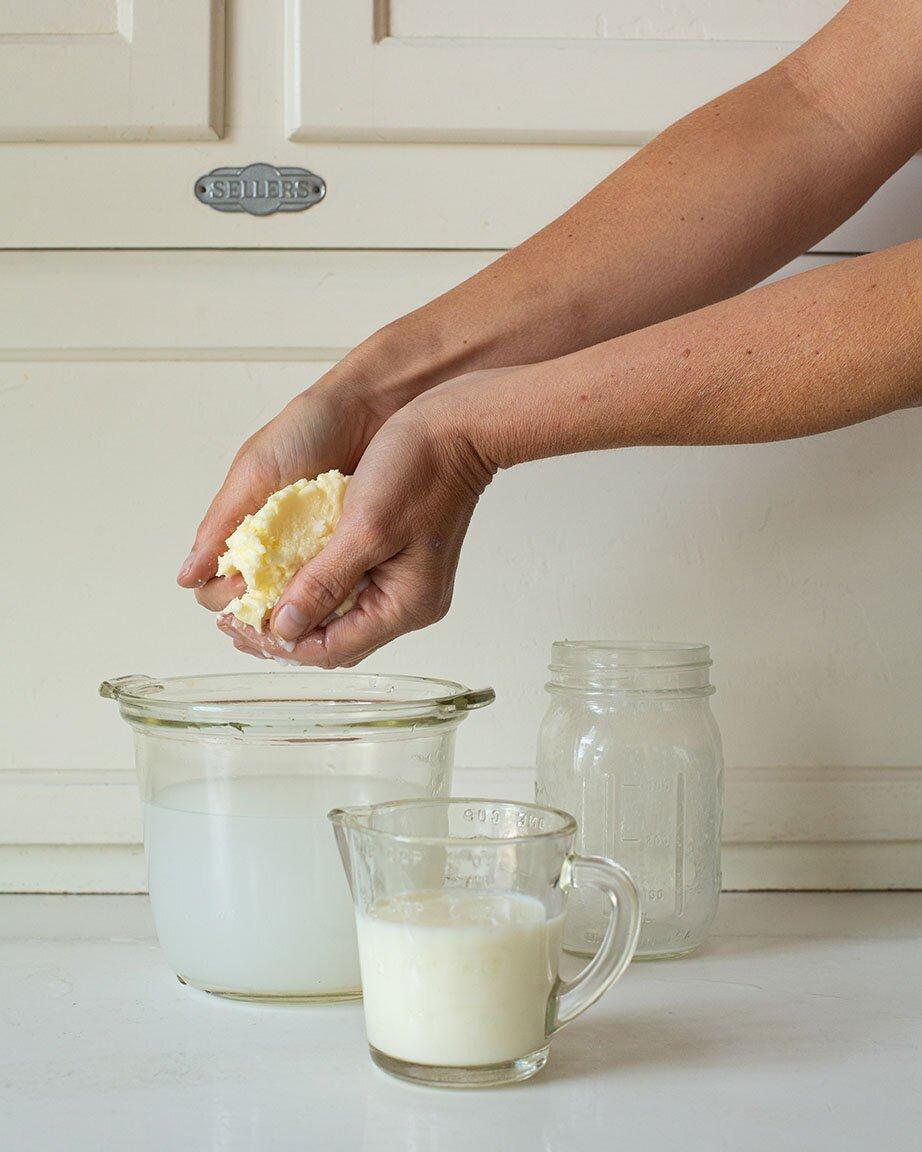 Rinsing butter