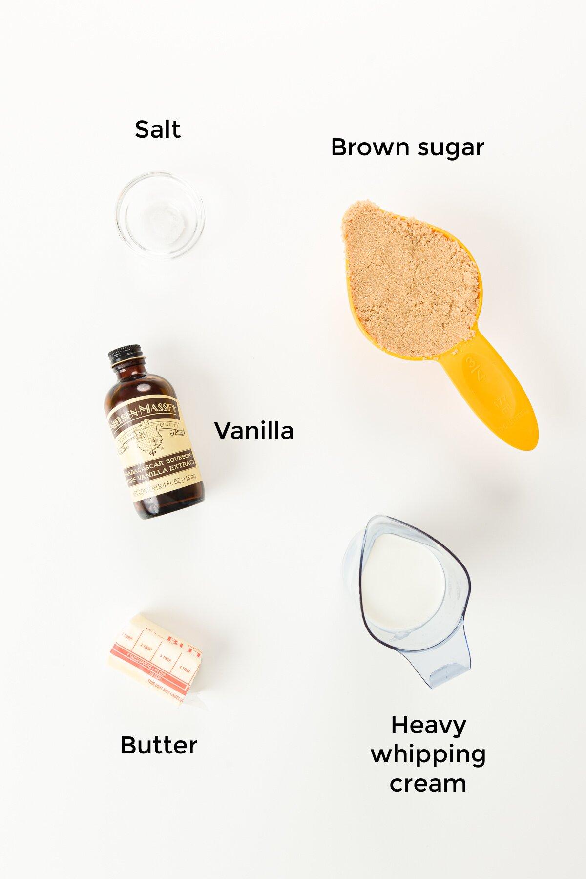 Butterscotch sauce ingredients